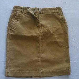 NWT J Crew corduroy pencil skirt size 0